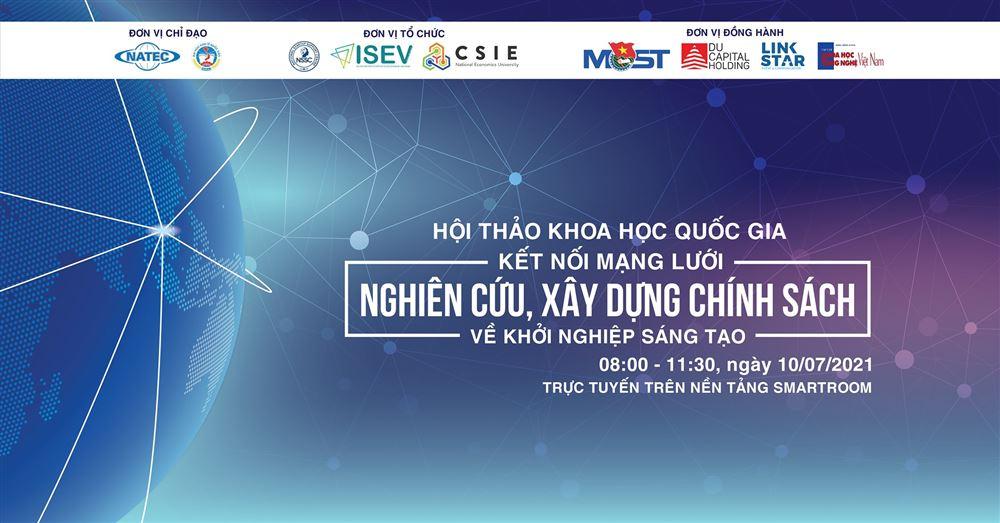 Hội thảo Kết nối mạng lưới nghiên cứu, xây dựng chính sách về khởi nghiệp sáng tạo