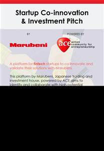 Cuộc thi Sáng tạo và Đầu tư Marubeni của Nhật Bản dành cho Startup Fintech