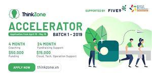 Nhận ngay 50.000 USD từ Chương trình Tăng tốc khởi nghiệp - THINKZONE ACCELERATOR 2019