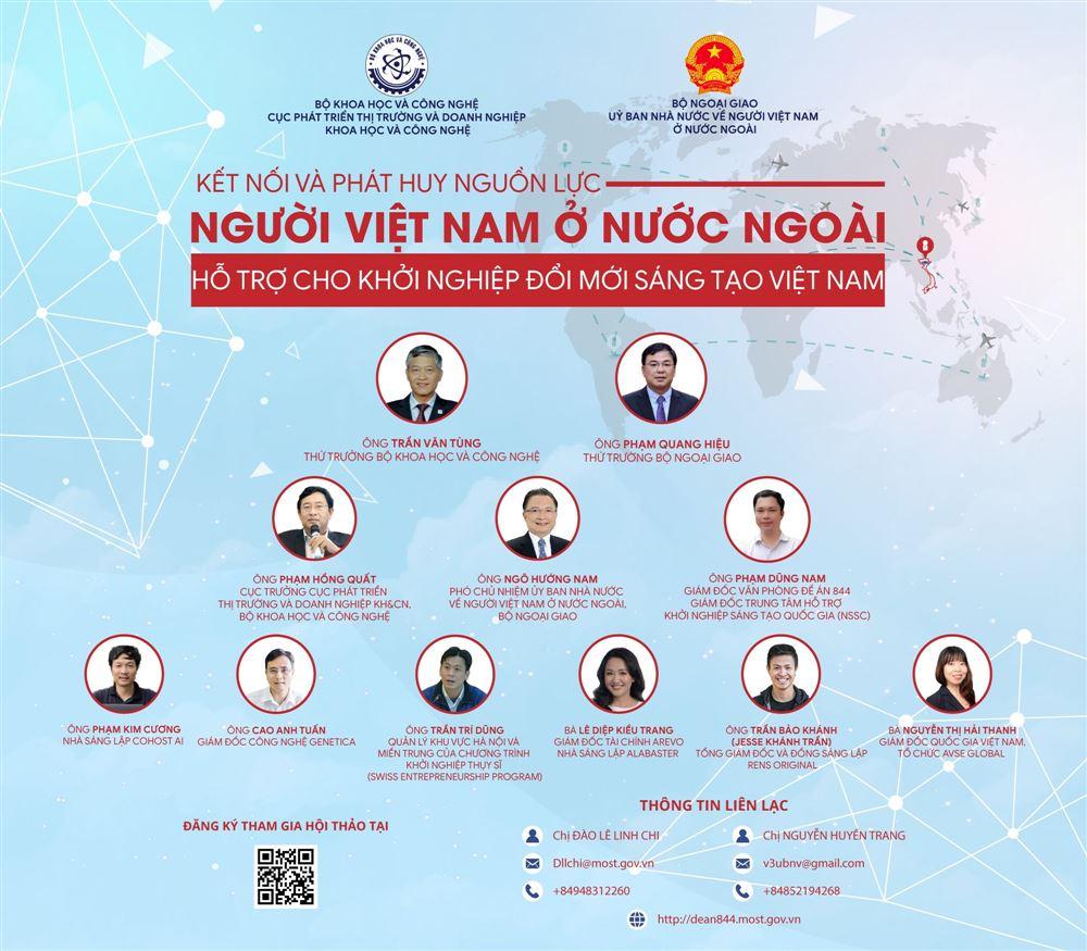"""Điểm mặt diễn giả tại hội thảo """"Kết nối và phát huy nguồn lực người Việt Nam ở nước ngoài hỗ trợ cho khởi nghiệp đổi mới sáng tạo Việt Nam"""""""
